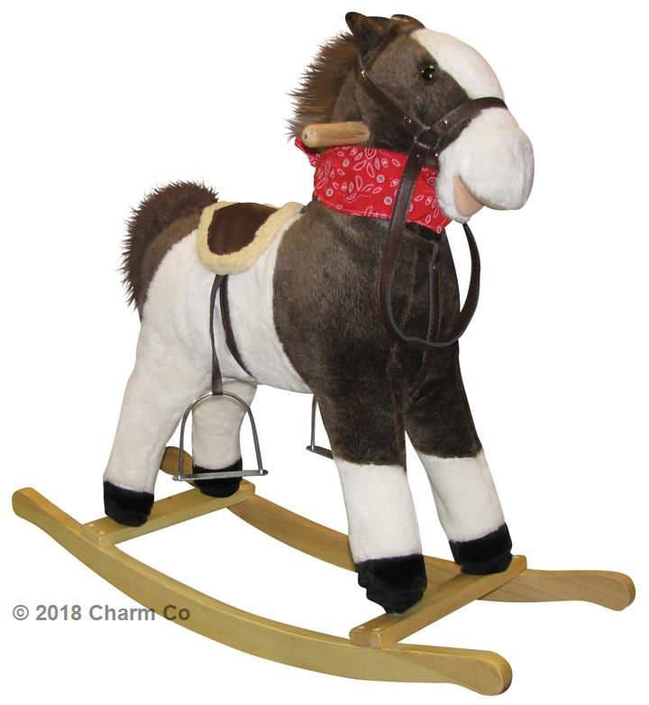 Charm Company Rocking Horse With Sound And Movement For Toddlers And Kids To Ride On It Comes With Horse Ac Kids Rocking Horse Plush Rocking Horse Rocking Toy