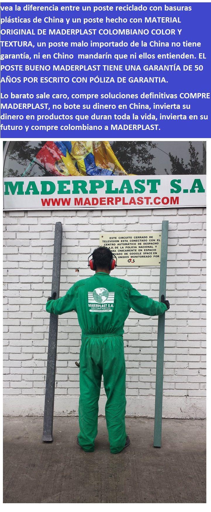 vea la diferencia entre un poste reciclado con basuras plásticas de china o la india y un poste hecho con material original de maderplast colombiano color textura calidad durabilidad dureza  01 vea la diferencia entre un poste reciclado con basuras plásticas de china o la india y un poste hecho con material original de maderplast colombiano color textura calidad durabilidad dureza