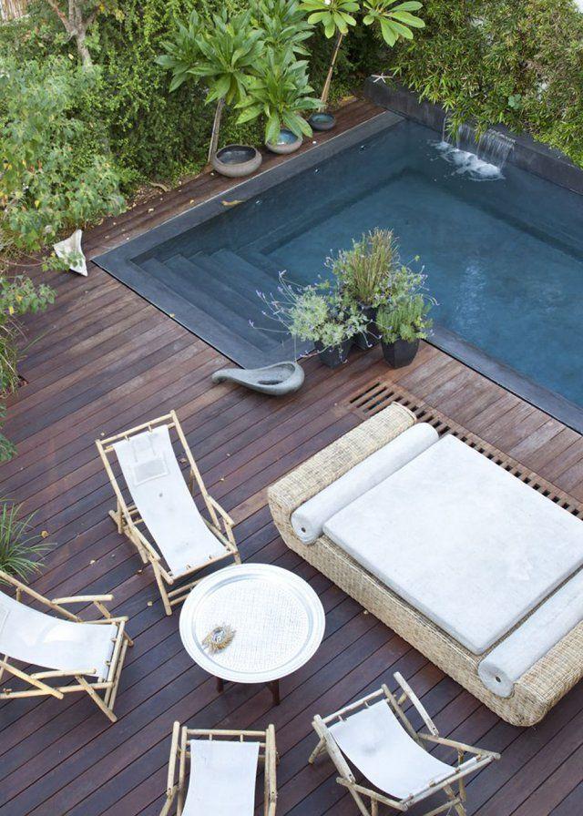 Un coin piscine aux accents exotiques - Marie Claire Maison