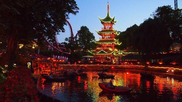 La sera.  Tivoli Gardens.copenhaggen,denmark Travelers' Choice award winner