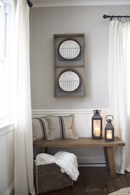 Rustic and Woven Dining Room Bench   rusticandwoven.com   Pinterest   Room, Decorating and Front ...