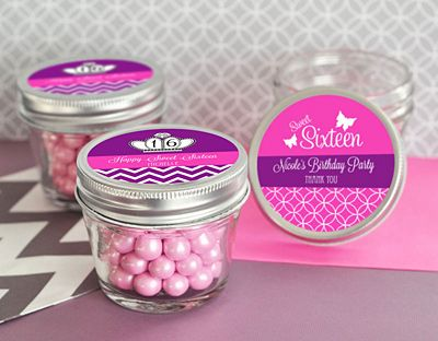Sweet Sixteen (or 15) Small 4 oz Mason Jars