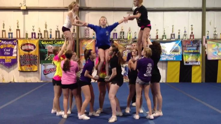 Level 4 Cheerleading Pyramid…these girls are too cute :D