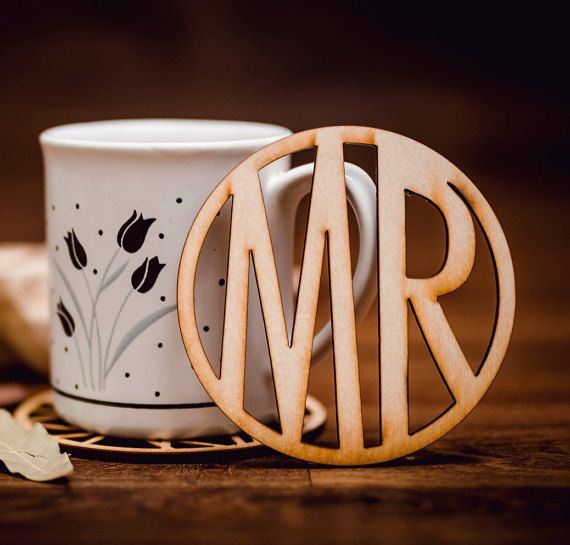 MR-Wooden Coaster for mug-laser cut-for tea or coffee cup-drink-A002