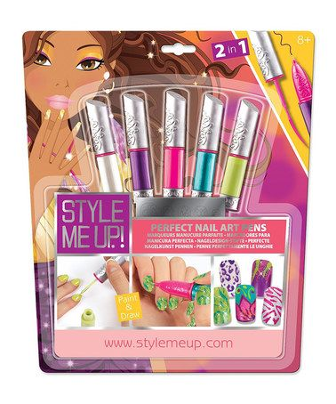 Loving this Style Me Up Perfect Nail Art Pens Set on #zulily! #zulilyfinds