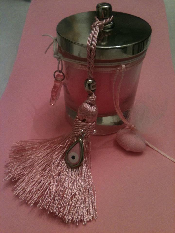 μπομπονιέρα γάμου με αρωματικό κερί