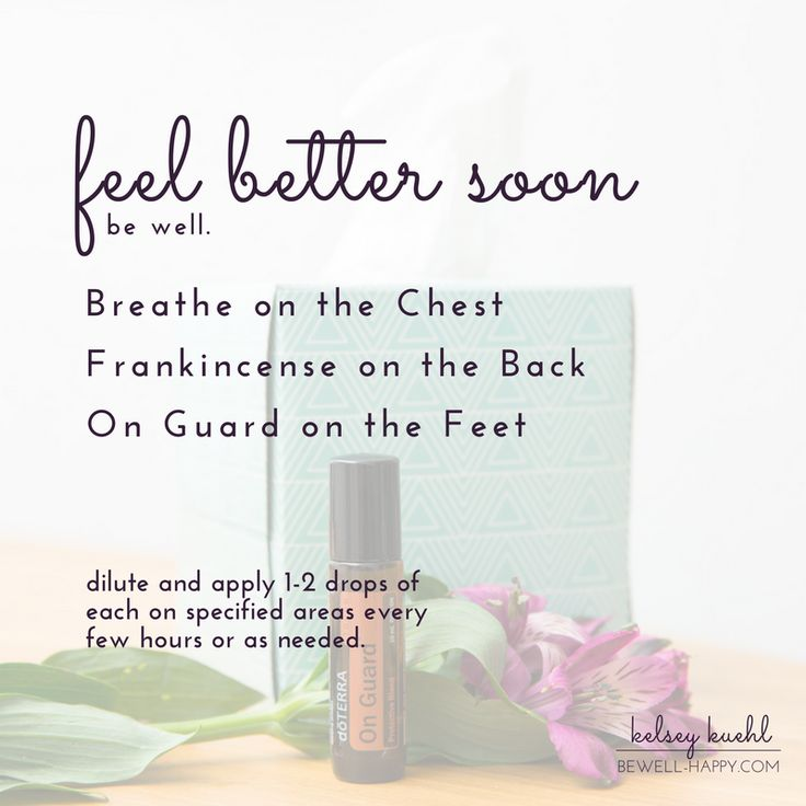 Cold remedies.  Use this natural remedy for colds, coughs and congestion.  dōTERRA Breathe essential oil applied to the chest to open airways.  Frankincense on the spine and upper back to support respiratory and immune health.  On Guard on the bottoms of the feet to boost the immune system.  Learn more at www.bewell-happy.com.