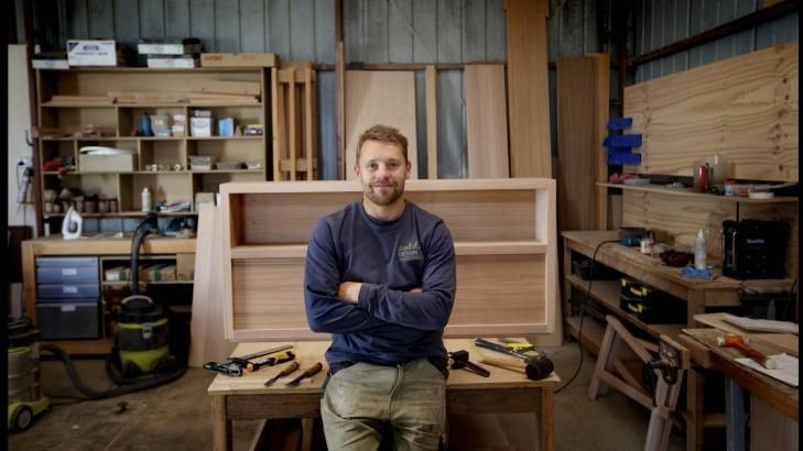 Jack Auld in his Ocean Grove factory.
