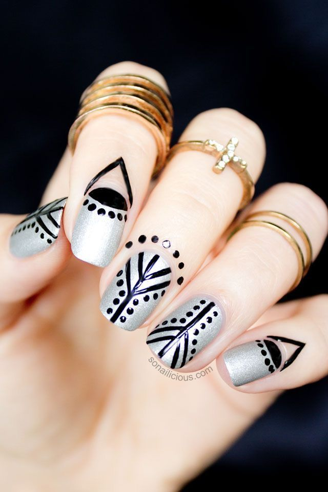 236857564 Pin by War*rior on Tribal Markings in 2019 | Simple nails, Nails, Simple  nail designs