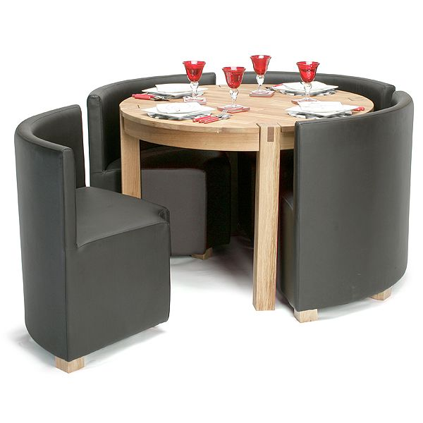 Space Saver Dining Room Table: Viscount Space Saver Set