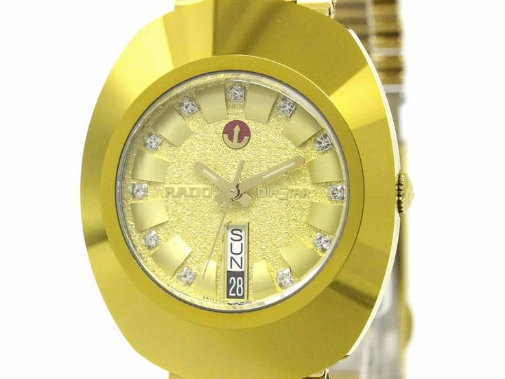 #RADO Diastar Gold Plated Automatic Mens Watch 648.0413.3 (BF099752). Authenticity guaranteed, free shipping worldwide & 14 days return policy. Shop more #preloved brand items at #eLADY: http://global.elady.com