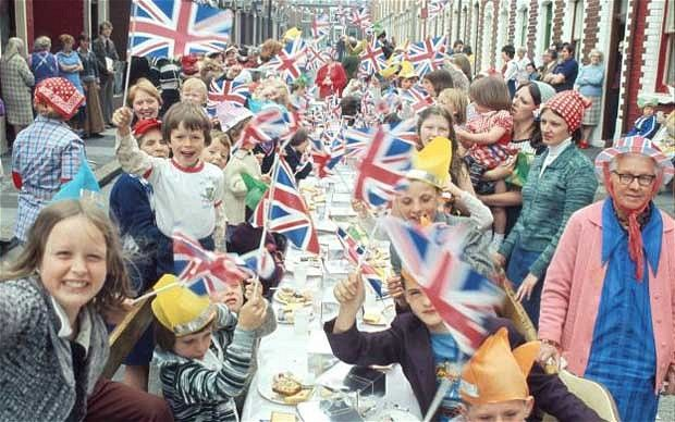 A street party to celebrate the Queen's Silver Jubilee (1977)