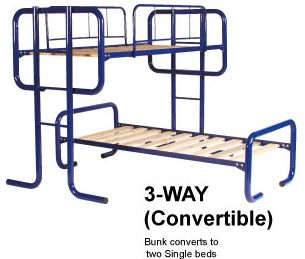 Bunk Beds Australia- Double Bunk Beds | Steel bunk beds.Our bunk beds are Australian made, designed and are all approved to Australian standards.The D-Deka bunk bed is a single on the top and a single on the bottom, ideal for kids sharing a bedroom or sleepovers.