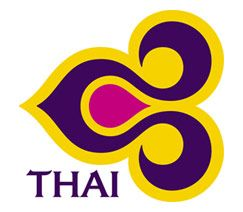 The stylized orchid logo from Thai Airways