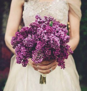 A simple lilac bouquet - love this flower and this color