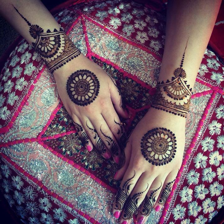 Beautiful mahendi design for hand