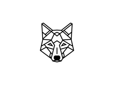 Geometric animal / Wolf for a finger tattoo                                                                                                                                                                                 More