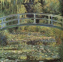 Claude Monet, Lo stagno delle nifee, armonia verde, 1899, olio su tela, Musèe d'Orsay, Parigi