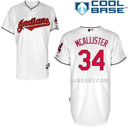 http://www.xjersey.com/indians-34-mcallister-white-cool-base-jerseys.html INDIANS 34 MCALLISTER WHITE COOL BASE JERSEYS Only $43.00 , Free Shipping!