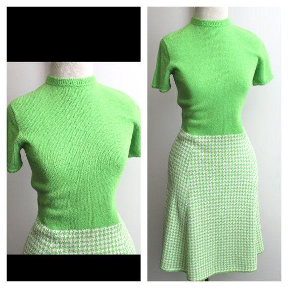 vintage St John Knits lime green sweater dress //  by RedTuTuRetro, $85.00