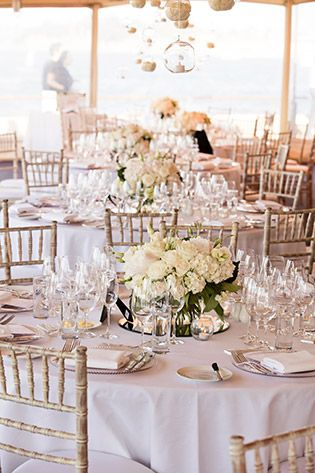 Classic white and Tiffany chairs. Image: GM Photographics
