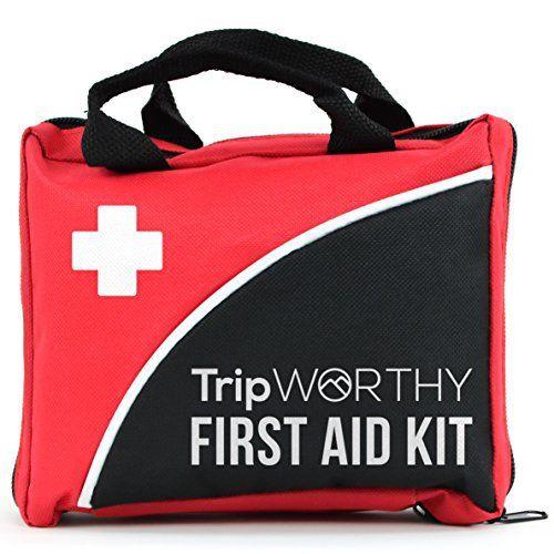 Trousse de premiers secours compacte – Maison, sport, bureau, camping, randonnée, bateau, survie, voyage et voiture – Kit de premiers soins…