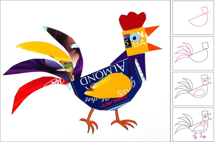 Art Projects for Kids: Recycled Rooster