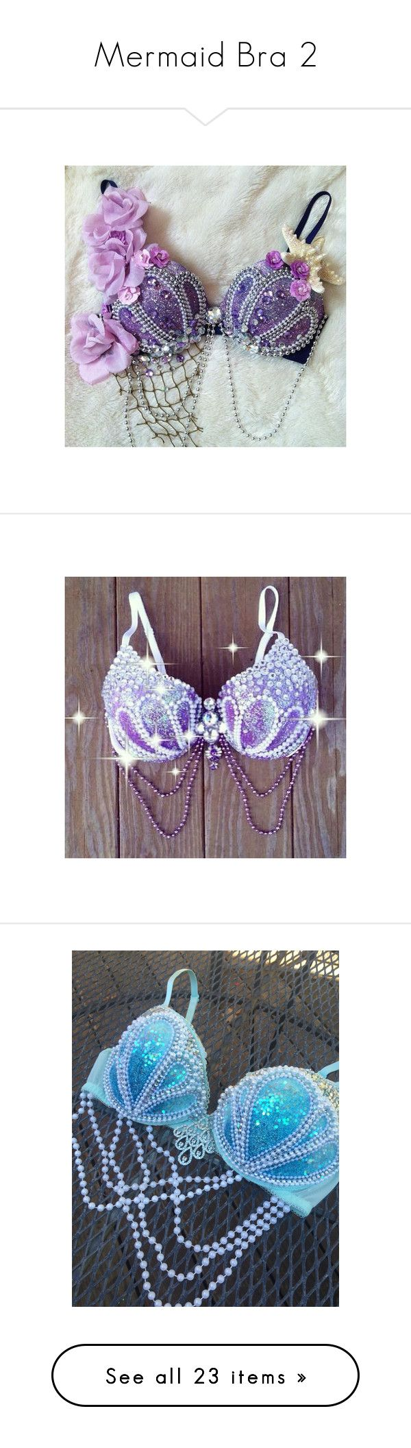 """Mermaid Bra 2"" by allie-19 ❤ liked on Polyvore featuring intimates, bras, blue bra, grey, lingerie, women's clothing, swimwear, bikinis, high rise bikini and strappy bikini"