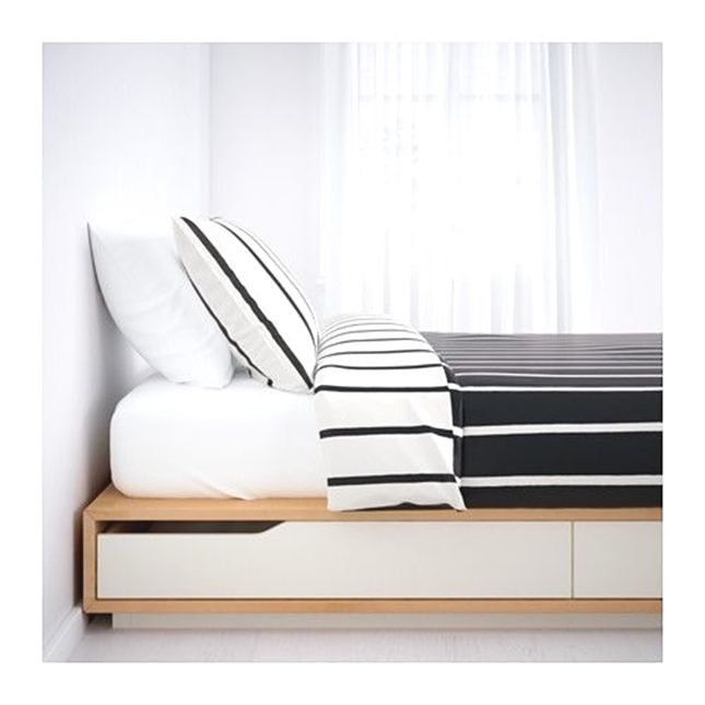 Mandal Bed Frame With Storage 160x202 Cm Ikea Bedframe Bed