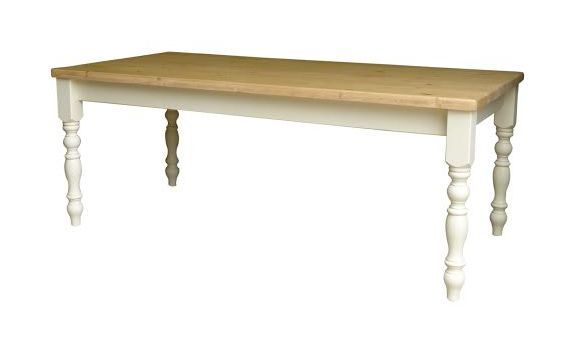 Hand made solid pine painted table.