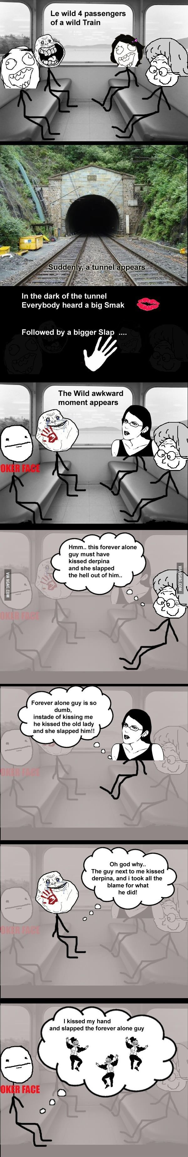 Trolling in the train