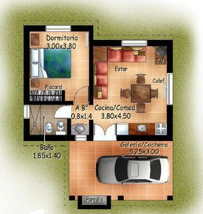planos de cabañas para 4 personas #modelosdecasasrusticas