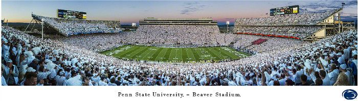 Penn State White Out Panoramic Print