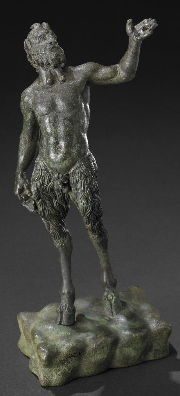 Pan on the hoof, Bronze, Roman (1st/3rd century CE), from southern Italy. On display at the British Museum
