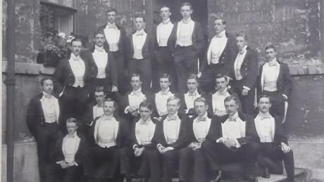 Bullingdon Club - Tommy is seated on the left of the back row © Lanhydrock archive