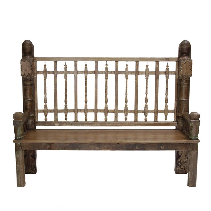 Reconstructed Indian Carved Rustic Bench from an Old Balcony, Carved bench, Indian Bench, Spanish bench, Moroccan Bench, Antique bench by DeCorPasadena on Etsy https://www.etsy.com/listing/241256531/reconstructed-indian-carved-rustic-bench