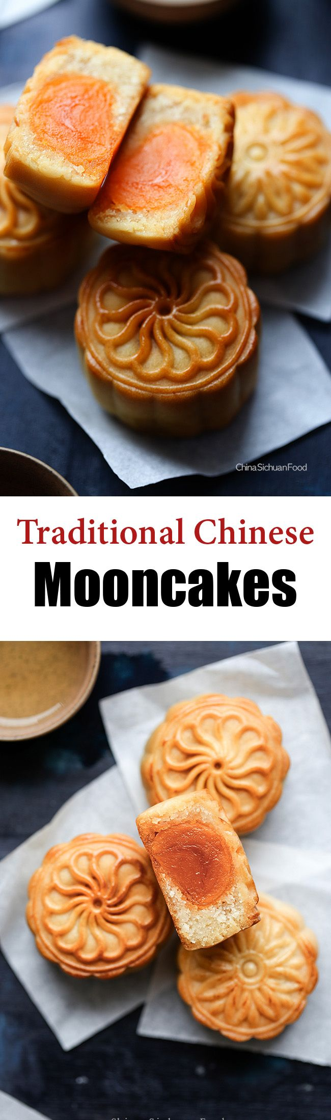 Chinese Mooncake (Yue Bing)月饼—Traditional Version,Chinese Mid Autumn Day. ChinaSichuanFood.com