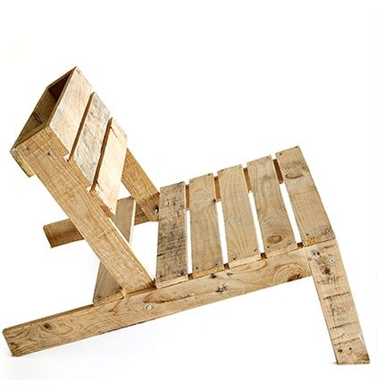 2 wood pallets + 50 screws + some elbow grease = 1 lovely DIY lounge chair (see Studiomama.com for detailed instructions)