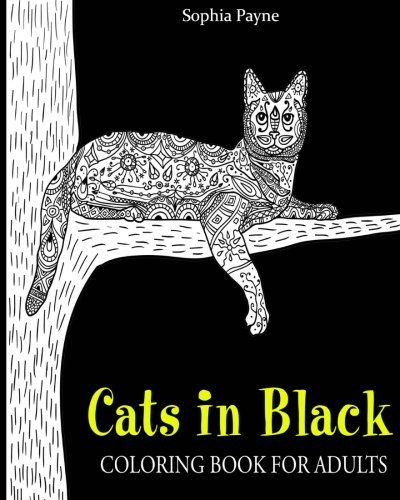 Cats In Black Coloring Book For Adults Cat Boo