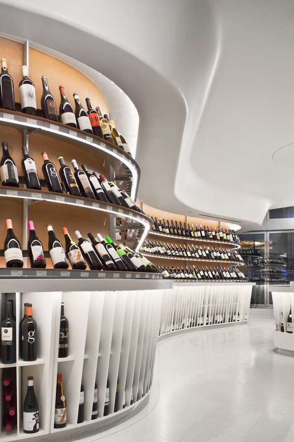 The Rogers Marvel Architects 'Vintry Fine Wine' Shop is Eye Ca #drinking #drink
