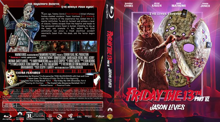 Friday The 13th Part 6-Jason Lives Blu-ray Custom Cover