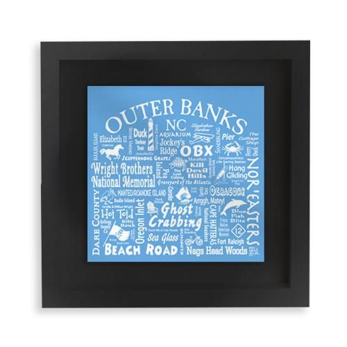 Outer Banks Location Mini Boxed Frame