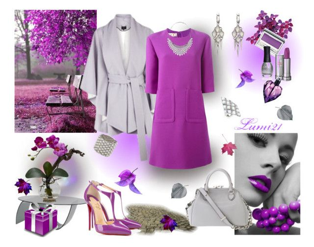 orchid by lumi-21 on Polyvore featuring Marni, Coast, Christian Louboutin, Marc Jacobs, Stephen Webster, Clinique, Lancôme, Diesel, ORLY and Eurø Style