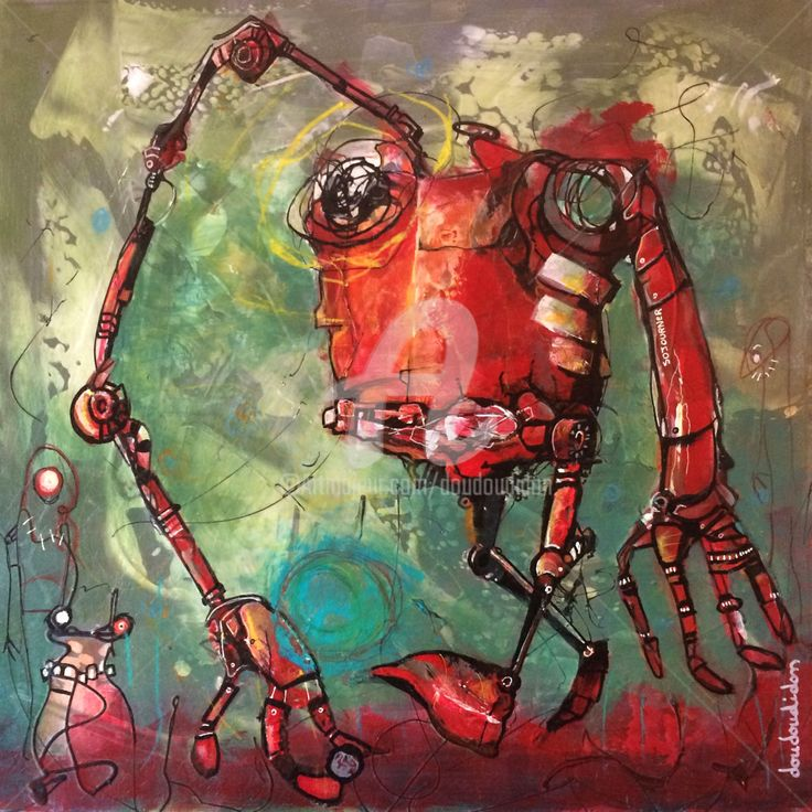 Best Outsider Art Peintures Sur Carte De Tarot Doudoudidon