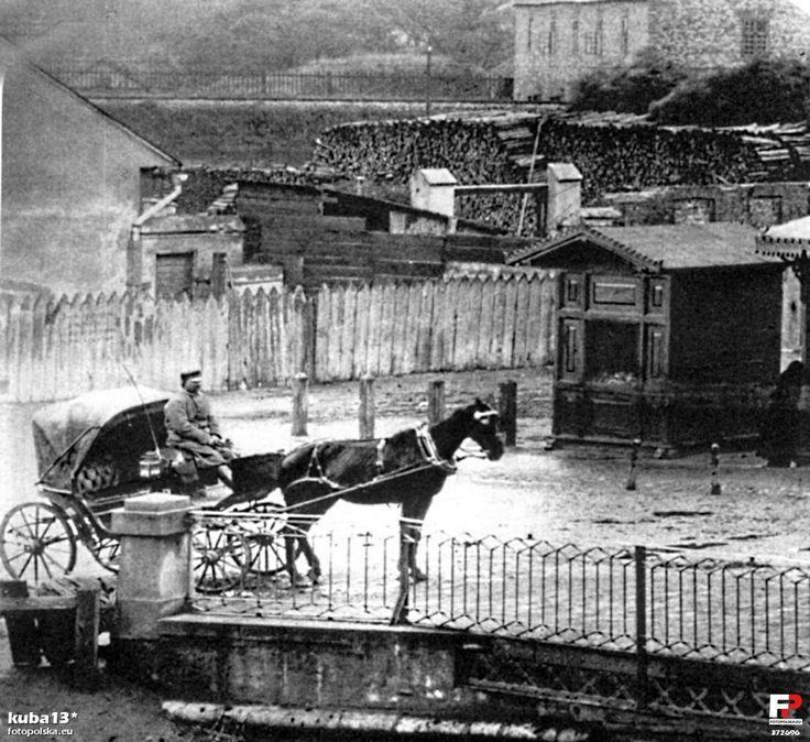 pl. Kossaka Juliusza, Kraków - 1875 rok, stare zdjęcia