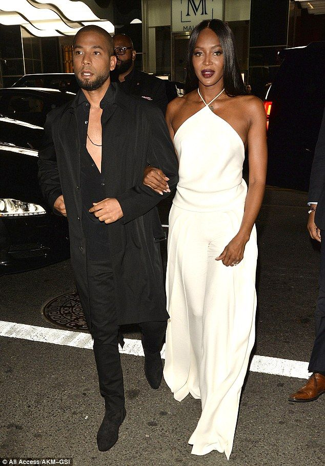 Co-star: Naomi arrived at the event on the arm of her former Empire co-star Jussie Smollett