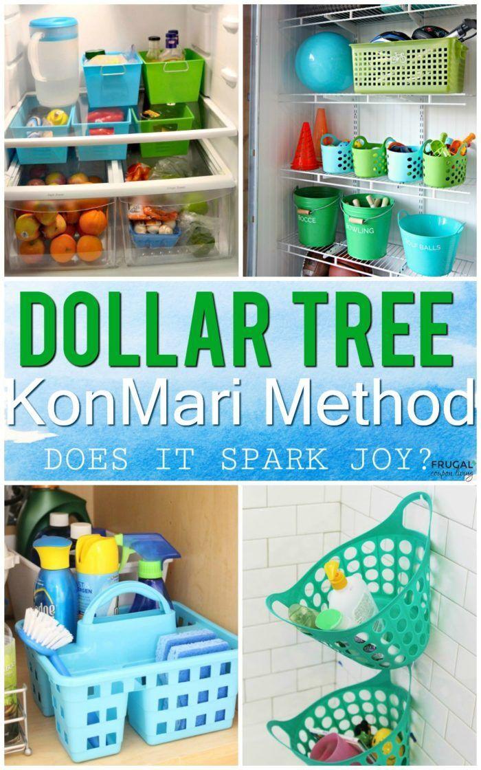 Konmari Method Dollar Tree Organizing With Images Dollar Tree Organization Home