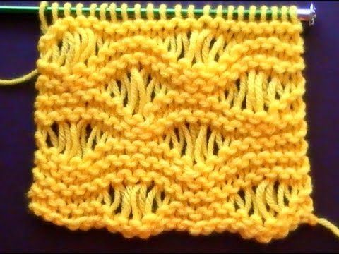 Como Tejer Punto Vainilla-Sea Foam Stitch (107) - YouTube