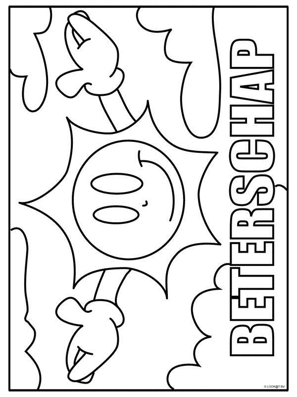 kleurplaat beterschap kleurplaten nl kleurplaten