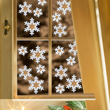 """Fensterbilder """"Schneeflocken"""""""
